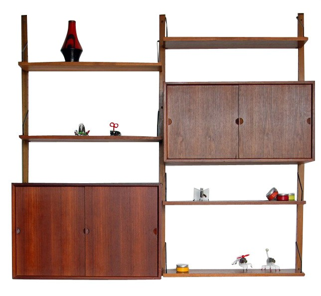 kitchen cabinets with price wall shelves quot royal system quot in teak poul cadovius 1950s 21440