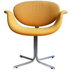 "Yellow ""Tulipe"" chair, Pierre PAULIN - 1970s"