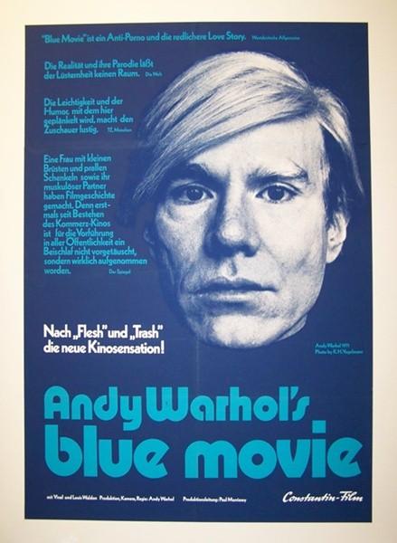 """Blue Movie"" Andy Warhol original cinema poster - 1969 ..."