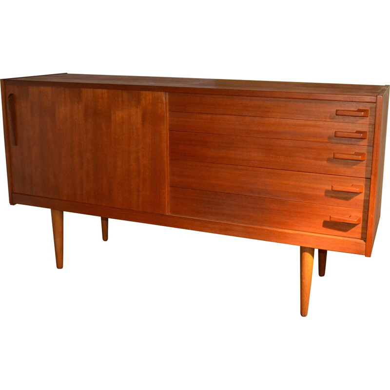 Swedish Troeds cabinet in oak and birch, Yngve EKSTRÖM - 1950s