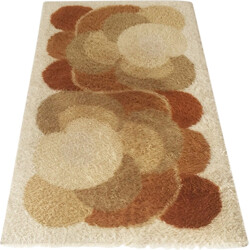 German Desso rug in brown and beige wool - 1970s