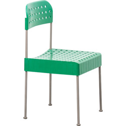 Italian Castelli chair in green plastic and metal, Enzo MARI - 1970s