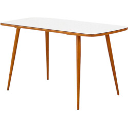 Coffee table in beech and formica - 1950s