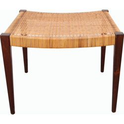 Danish stool in teak and seagrass -1950s
