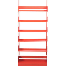 """Italian Lips Vago """"Congresso"""" shelving system in red metal - 1960s"""