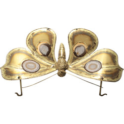 Very large vintage butterfly luminaire, Jacques DUVAL-BRASSEUR - 1970s