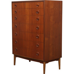 Mid century chest of drawers with 7 drawers, Kai KRISTIANSEN - 1960s