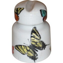Italian ceramic paperweight with butterfly patterns, Piero FORNASETTI - 1950s