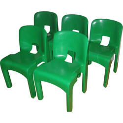 "Set of 5 ""Universal"" chairs, Joe COLOMBO - 1960s"