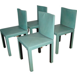 Set of 4 Arcadia leather chairs, Paolo PIVA - 1980s