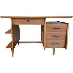 French style oak desk - 1950s