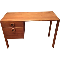 Scandinavian teak desk with drawers - 1960s