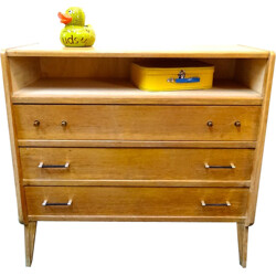 Chest of drawers with compass feet - 1950s