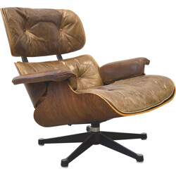 "Herman Miller Rosewood ""Lounge"" Chair, Charles EAMES - 60s"