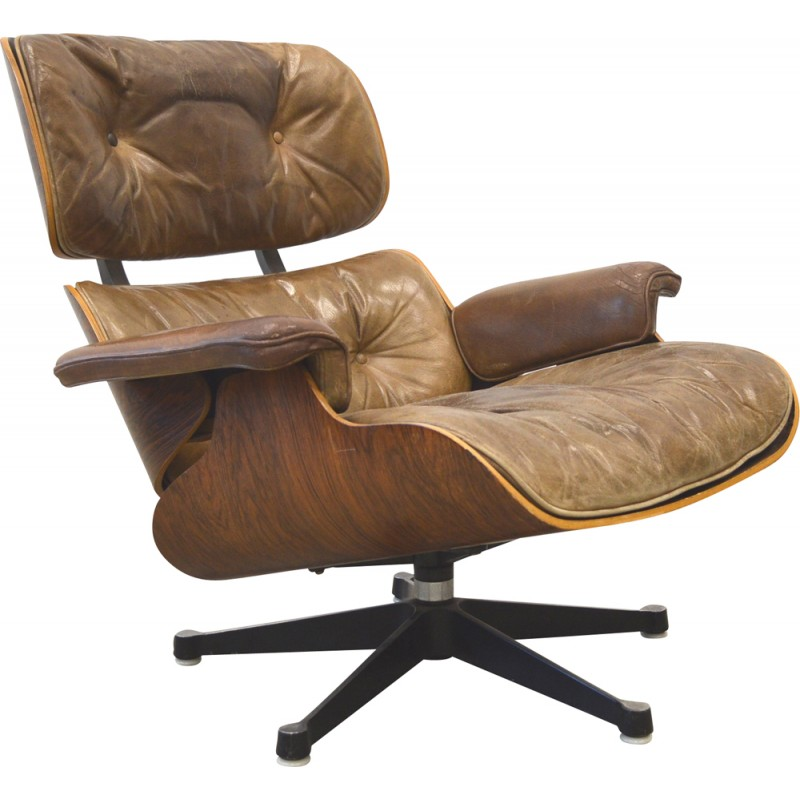 Herman Miller Rosewood Lounge Chair Charles EAMES S Design - Fauteuil design charles eames
