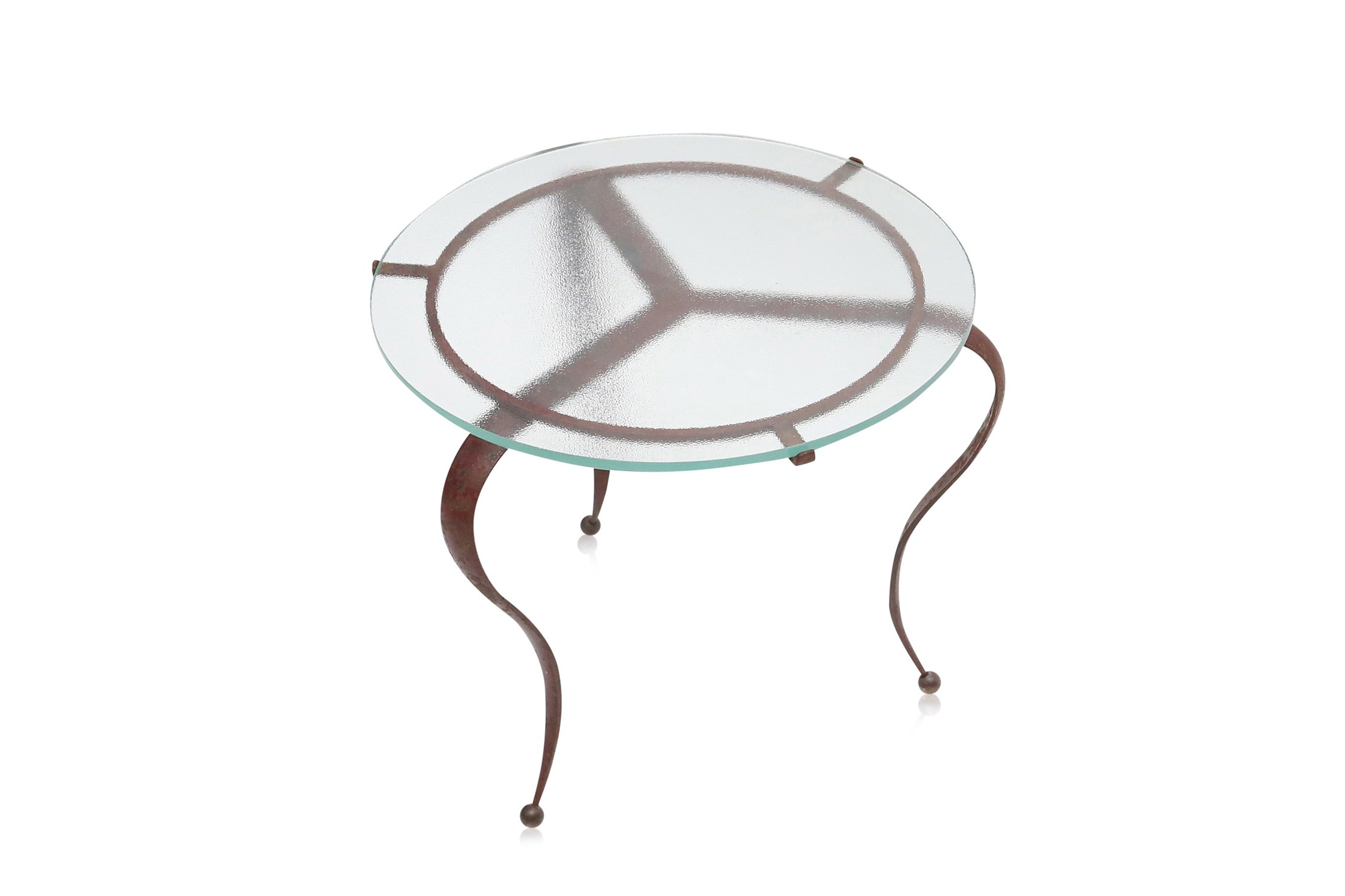 72ec31c4a204 Occasional Table in wrought iron - 1940s - Design Market