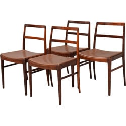 """Set of 4 model """"430"""" dining chairs in rosewood, Arne VODDER - 1950s"""