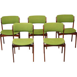 Set of 5 model 49 dining chairs, Erik BUCH - 1960s
