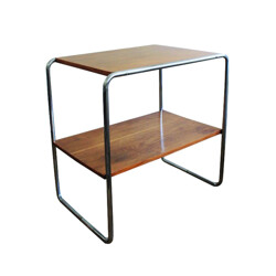 "Side table ""B12"" in wood and steel, Marcel BREUER - 1930s"