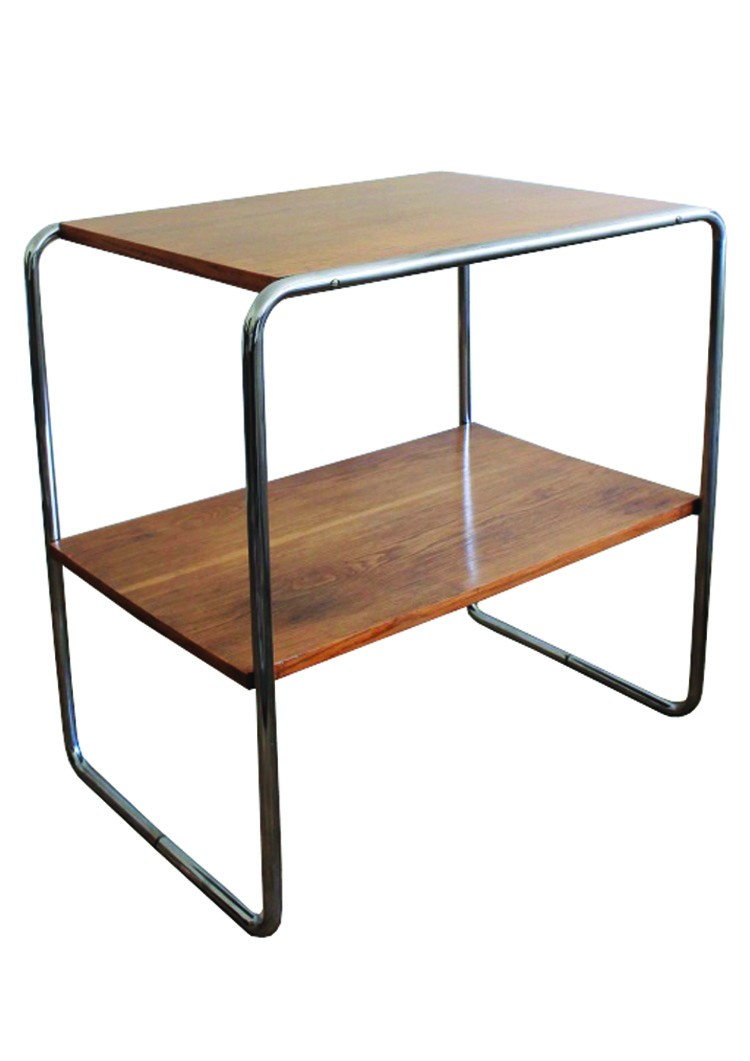Side table b12 in wood and steel marcel breuer 1930s design previous next geotapseo Choice Image