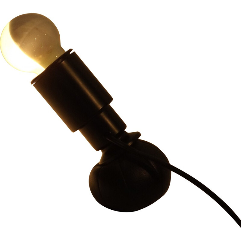Arteluce desk lamp in leather and metal, Gino SARFATTI - 1960s