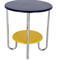 Mid century side table with double tray - 1950s