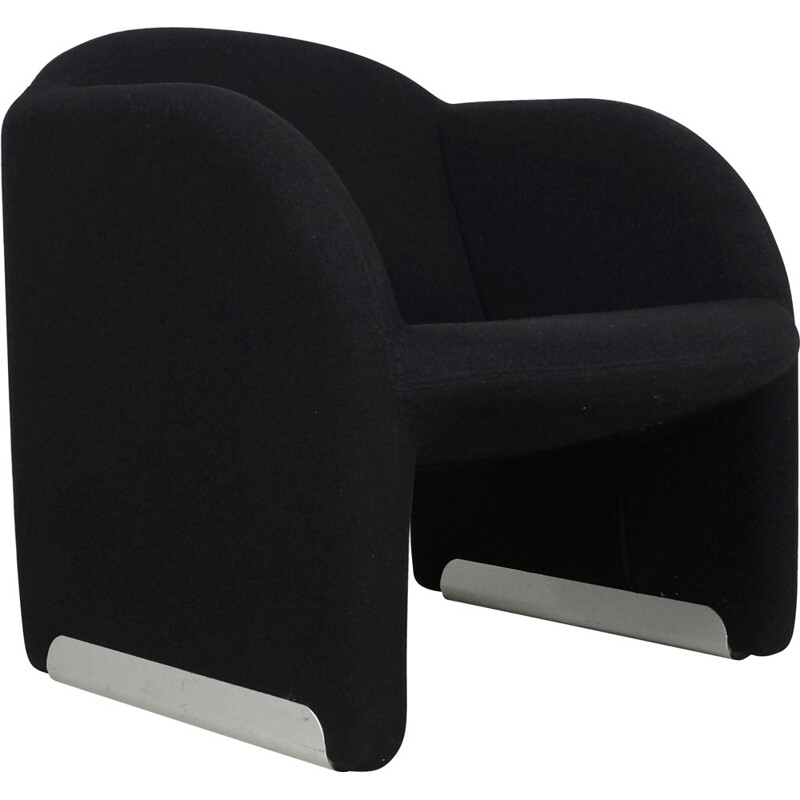 "Artifort ""Ben Chair"" in steel and black wool fabric, Pierre PAULIN - 1990s"