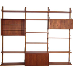 """""""Royal System"""" wall system in teak, Poul CADOVIUS - 1950s"""