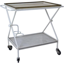 Mid century serving trolley with removable tray, Mathieu MATEGOT - 1950s