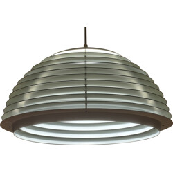 Scandinavian hanging lamp in white lacquered metal - 1960s