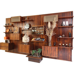 Wall unit in Rio rosewood, Poul CADOVIUS - 1970s