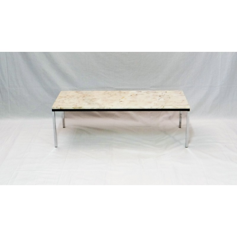 Cool Mid Century Rectangular Coffee Table With Marble Top 1960S Machost Co Dining Chair Design Ideas Machostcouk