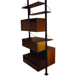 Cado room divider in teak and lacquered steel, Poul CADOVIUS - 1960s