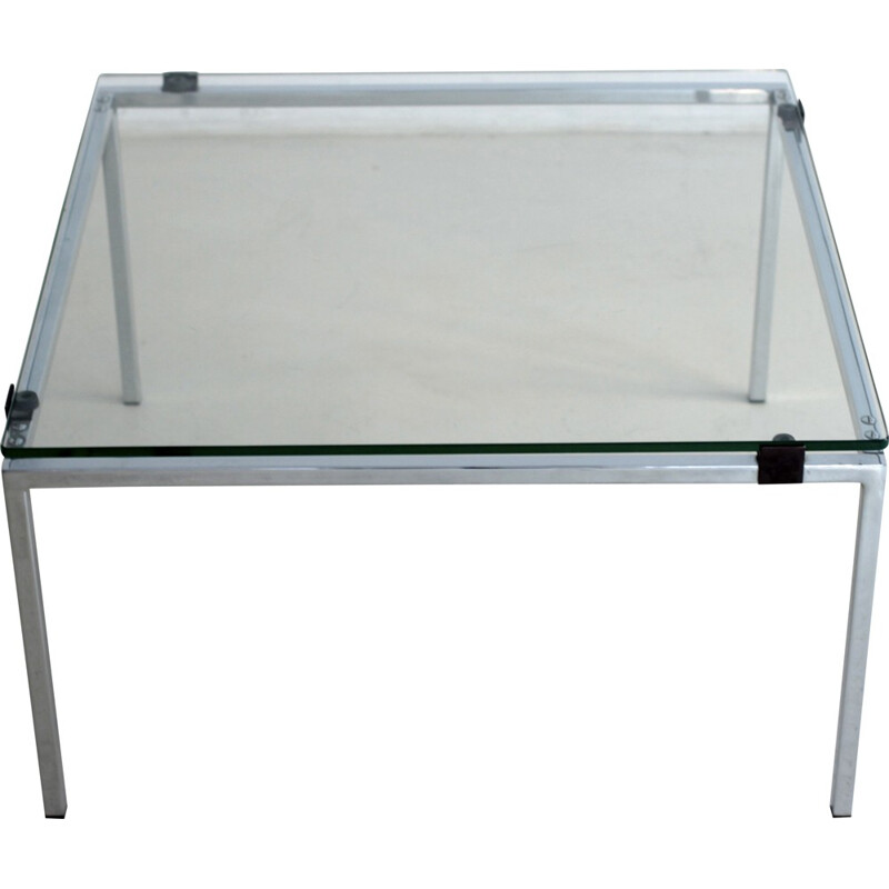 Square coffee table in chrome-plated metal, Alain RICHARD - 1950s