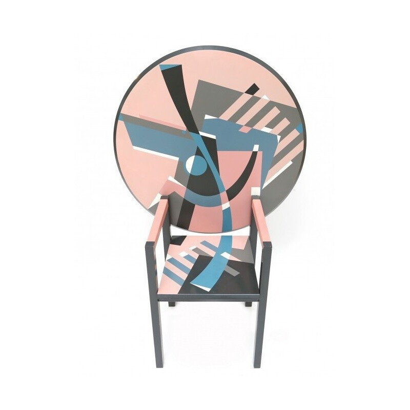 Vintage convertible chair into table, Alessandro MENDINI - 1984