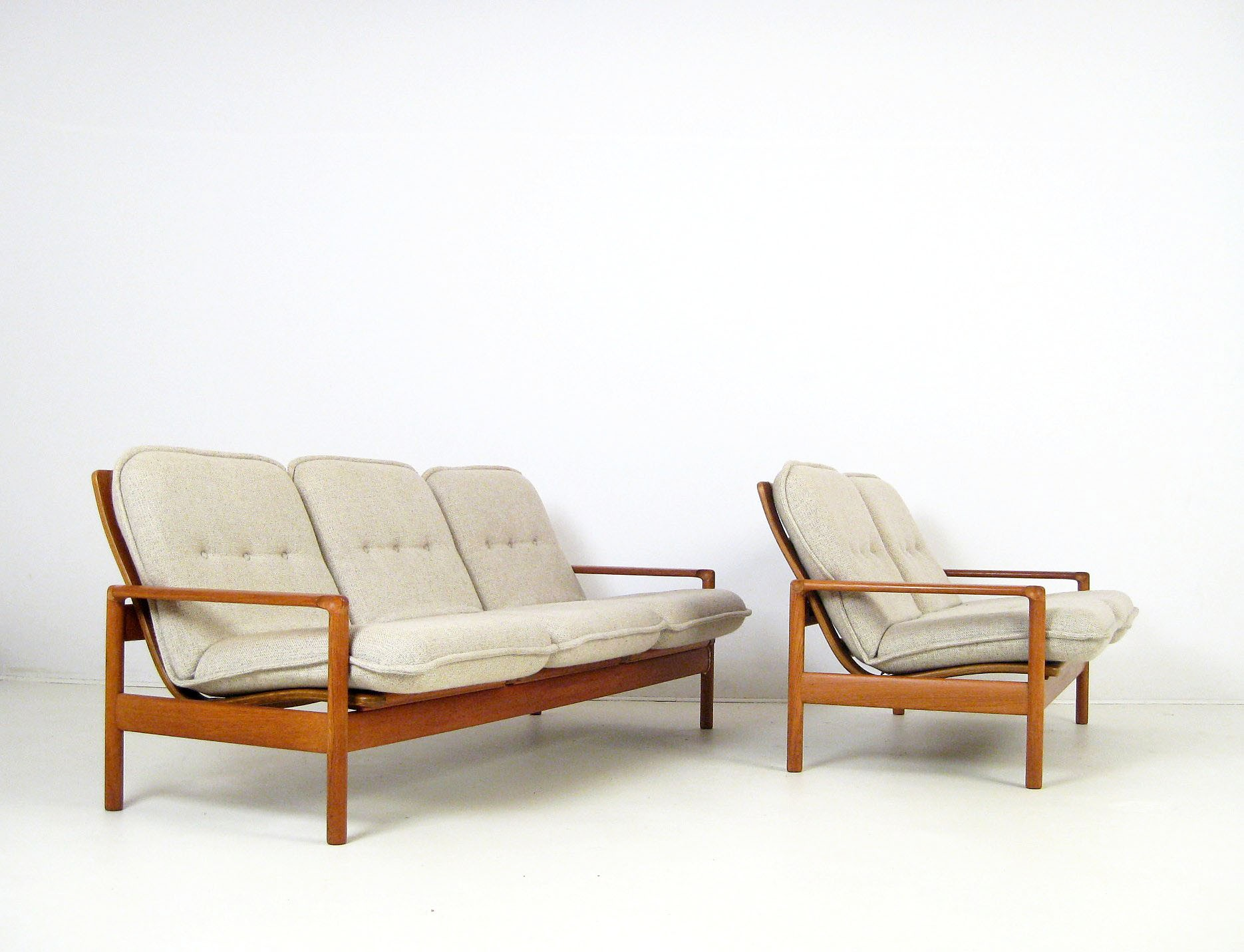 Scandinavian sofa set in teak and wool 1960s Design Market