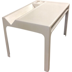 "Mid century ""Ozoo"" desk in polyester and fiberglass, Marc BERTHIER - 1960s"