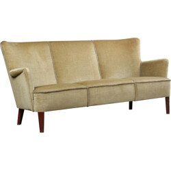 Scandinavian sofa in velvet - 1960s