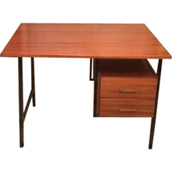 Vintage French oak desk - 1970s