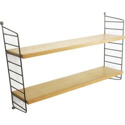 Mid century String shelving system in ash, Nisse STRINNING - 1960s