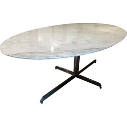 Large Roche Bobois dining table in marble - 1970s