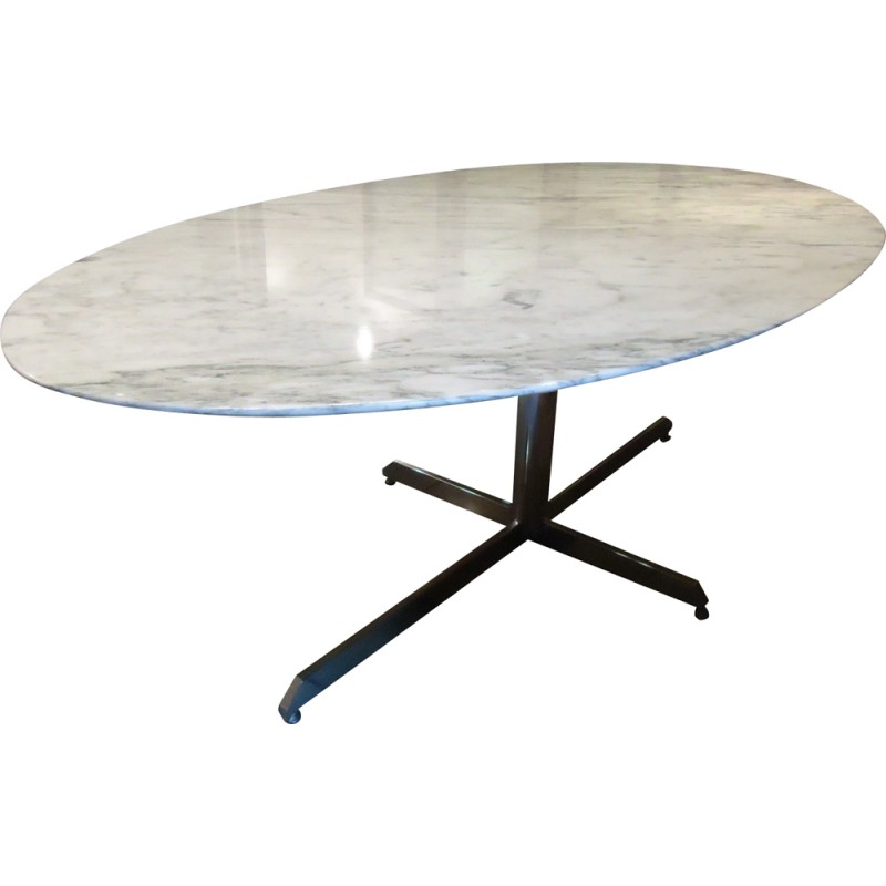 large roche bobois dining table in marble 1970s