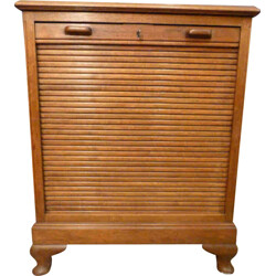 Small American cabinet in walnut with tambour door - 1930s