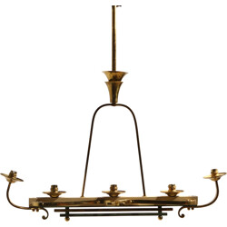 Mid century pendant light in brass and copper - 1940s