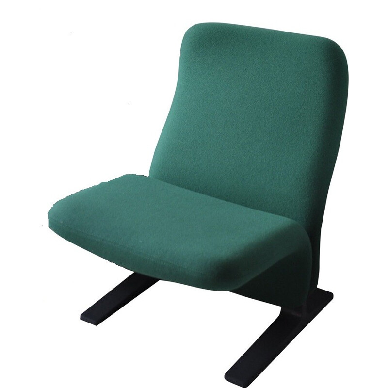 "Armchair Artifort ""Concorde"" in green kvadrat fabric, Pierre PAULIN - 1960s"