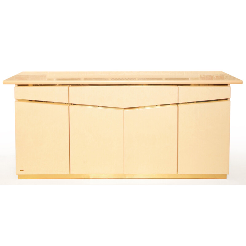 Sideboard in beige lacquered wood, Eric MAVILLE - 1970s