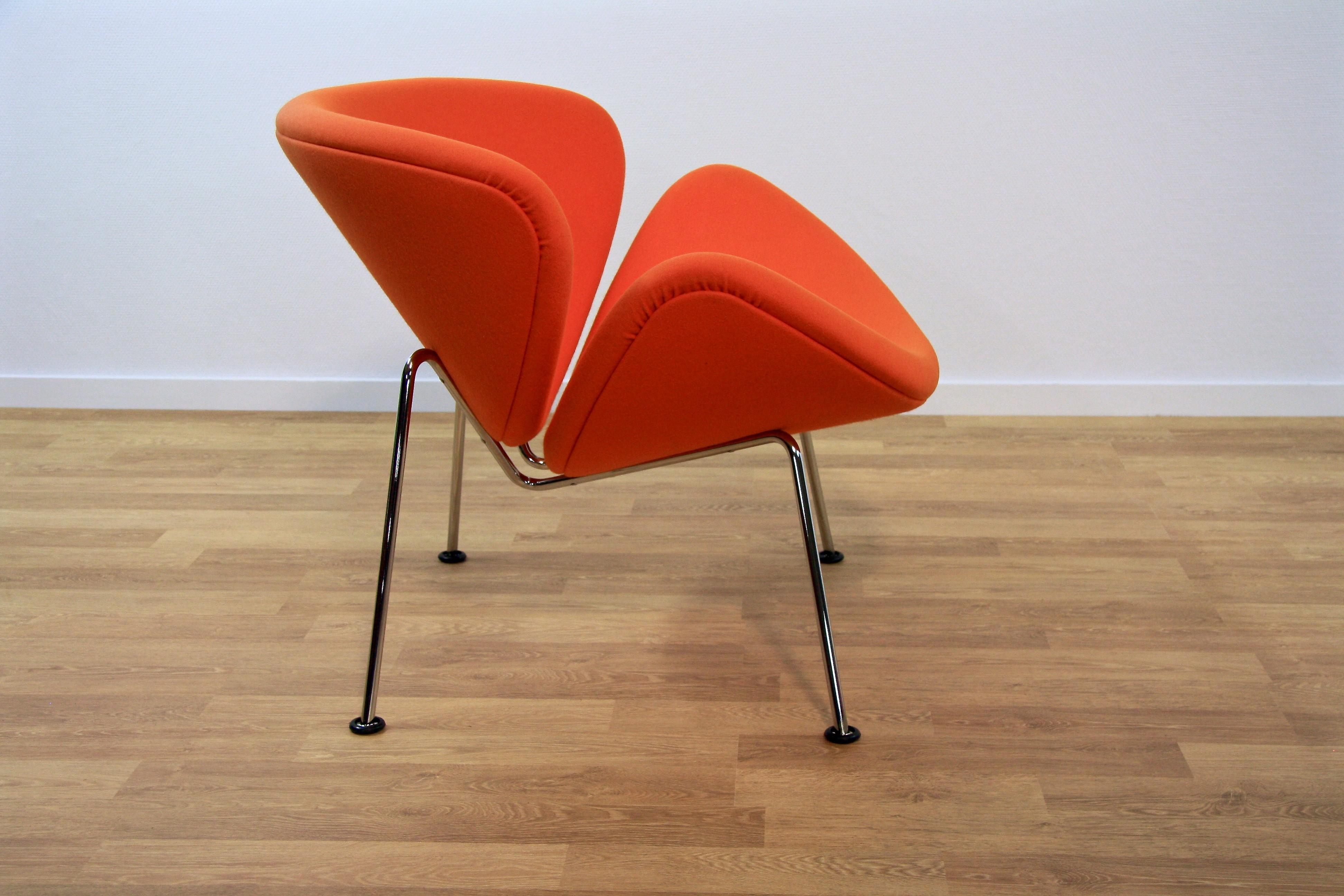 "Artifort ""Orange Slice"" Lounge Chair In Orange Fabric"