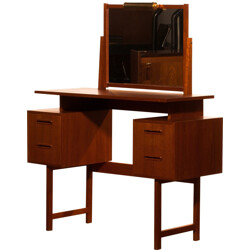 Swedish G&T dressing table in teak with adjustable mirror - 1960s