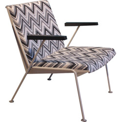 "Ahrend de Cirkel ""Oase"" armchair in steel and fabric, Wim RIETVELD - 1950s"