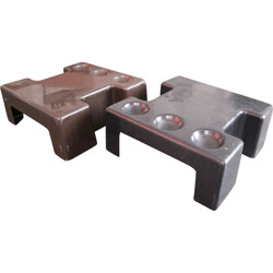 """Pair of """"Puzzle"""" coffee table in plastic - 1970s"""
